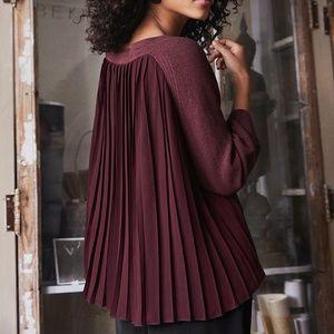 Anthro Wrap London Burgundy Reiko Sweater Size 12
